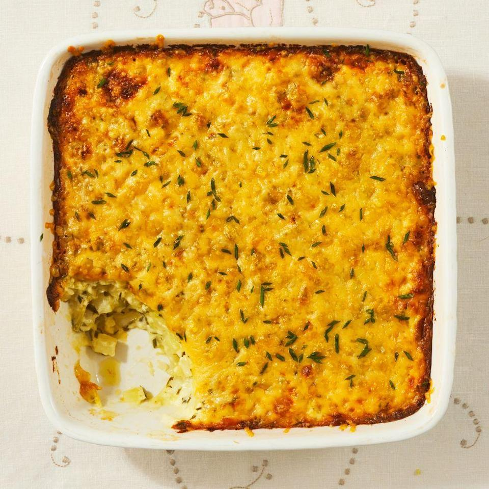 """<p>There are so many ways to cook potatoes, but this creamy, cheesy au gratin is one of the best. It's perfect for holidays, steak dinners, or any special occasion. </p><p><a href=""""https://www.thepioneerwoman.com/food-cooking/recipes/a35903632/potatoes-au-gratin-chives-gruyere-recipe/"""" rel=""""nofollow noopener"""" target=""""_blank"""" data-ylk=""""slk:Get Ree's recipe."""" class=""""link rapid-noclick-resp""""><strong>Get Ree's recipe.</strong></a></p>"""