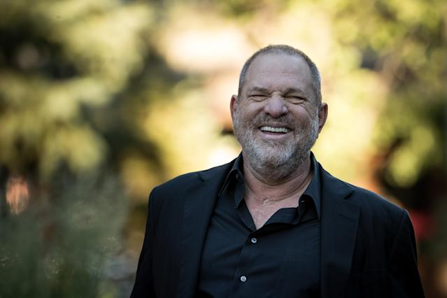 Harvey Weinstein at the annual Allen & Company Sun Valley Conference in Idaho on July 12, 2017. (Photo: Drew Angerer/Getty Images)