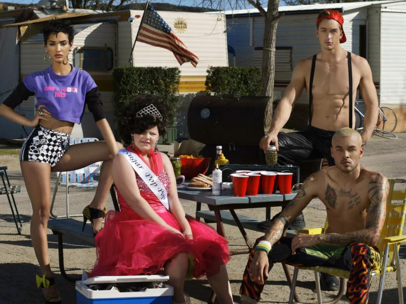 "Kanani, Jeremy, and Don in the ""America's Next Top Model"" Cycle 20 episode, ""The Girl Who Went Around in Circles."""