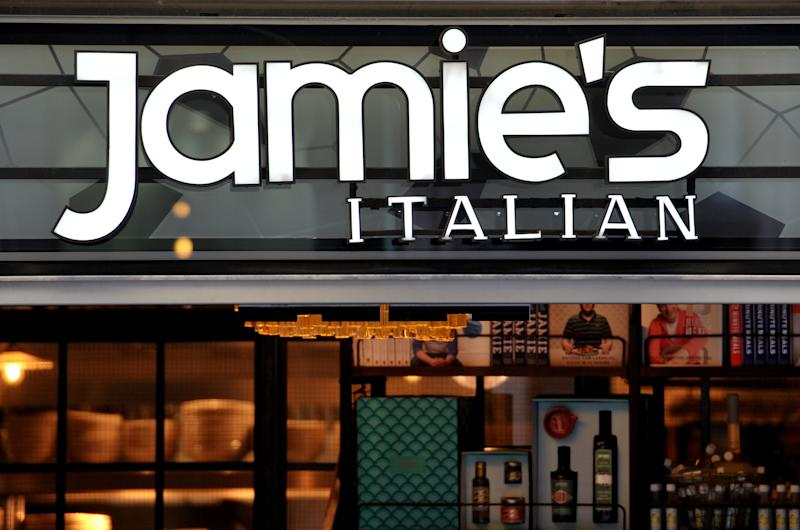 A Jamie's Italian, the restaurant chain founded and majority-owned by celebrity chef Jamie Oliver, on Old Bailey, central London.