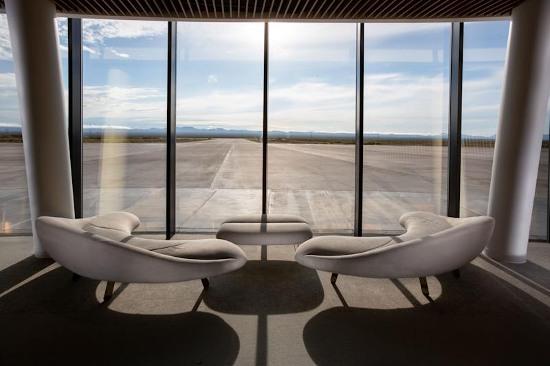 "Undated handout photo issued by Virgin Galactic of the viewing area of runway at Gateway to Space, Spaceport America, New Mexico, which is ""operationally functional"". PRESS ASSOCIATION Photo. Issue date: Thursday August 15, 2019. The company, owned by billionaire businessman Sir Richard Branson, announced the transfer of all its spaceflight operations to Spaceport America in New Mexico on Thursday. See PA story AIR VirginGalactic. Photo credit should read: Virgin Galactic/PA Wire NOTE TO EDITORS: This handout photo may only be used in for editorial reporting purposes for the contemporaneous illustration of events, things or the people in the image or facts mentioned in the caption. Reuse of the picture may require further permission from the copyright holder."