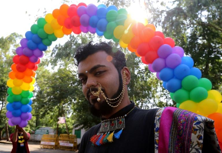 An Indian supporter of the lesbian, gay, bisexual, transgender (LGBT) community takes part in a pride parade in Bhopal in July: the supreme court is about to pass judgement on laws outlawing homosexuality
