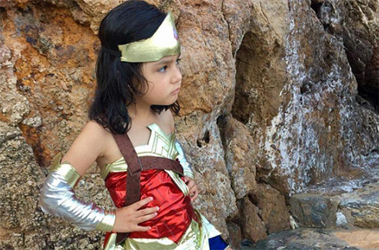 Little Girl Dresses Up As Wonder Woman