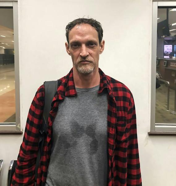 Michael Blanc before his departure Saturday at the Jakarta airport, in a photo provided by Indonesia's immigration authority