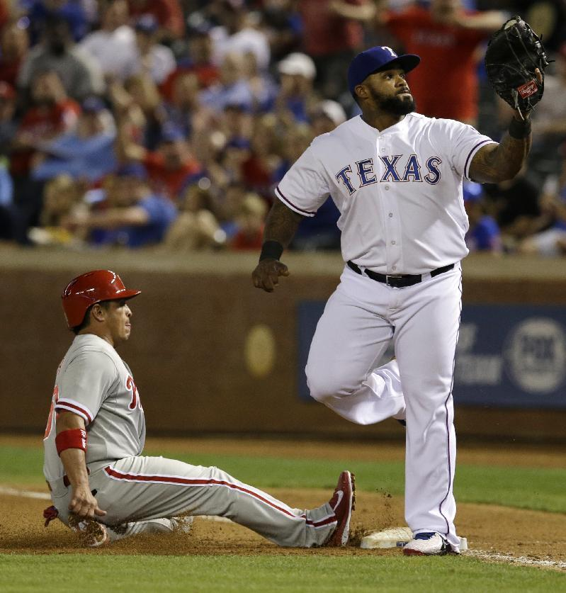 Beltre sends Rangers past Phillies 3-2 in 9th