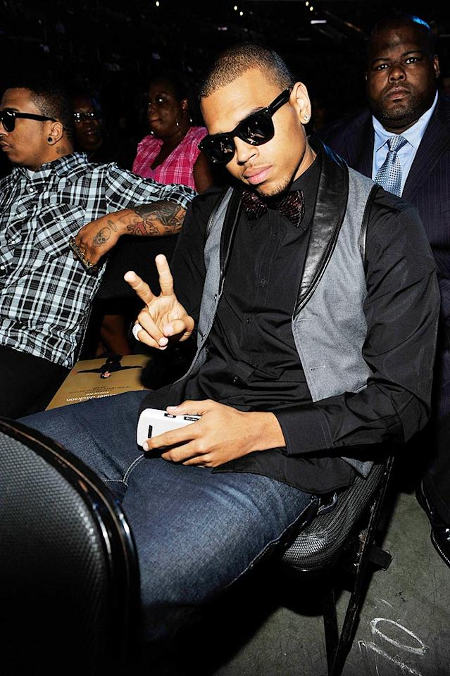 """Chris Brown, who has been compared to a young MJ thanks to his style, singing, and dance moves, was also in attendance. """"Michael will be deeply missed, but never forgotten,"""" noted Brown. """"He's the greatest ... the best ever."""" Kevin Mazur/MJ Memorial/<a href=""""http://www.wireimage.com"""" target=""""new"""">WireImage.com</a> - July 7, 2009"""