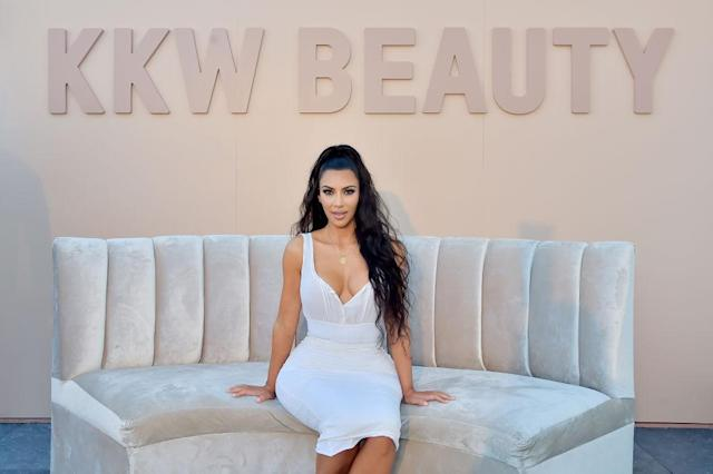 Kim Kardashian promotes her KKW Beauty line on June 30 in L.A. (Photo: Stefanie Keenan/Getty Images for ABA)