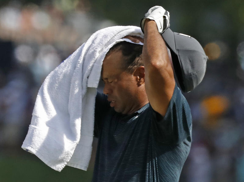 Tiger Woods shoots even-par 70 in first round of PGA Championship