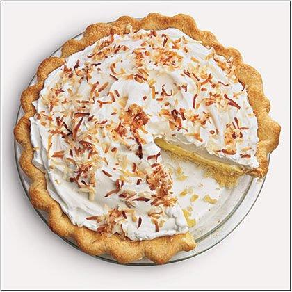 "<p><strong>Recipe:</strong> <a href=""https://www.southernliving.com/recipes/coconut-cream-pie"" rel=""nofollow noopener"" target=""_blank"" data-ylk=""slk:Coconut Cream Pie"" class=""link rapid-noclick-resp""><strong>Coconut Cream Pie</strong></a></p> <p>Packed full of nostalgic flavors, this pie tastes like the Southern summers of our childhoods.</p>"