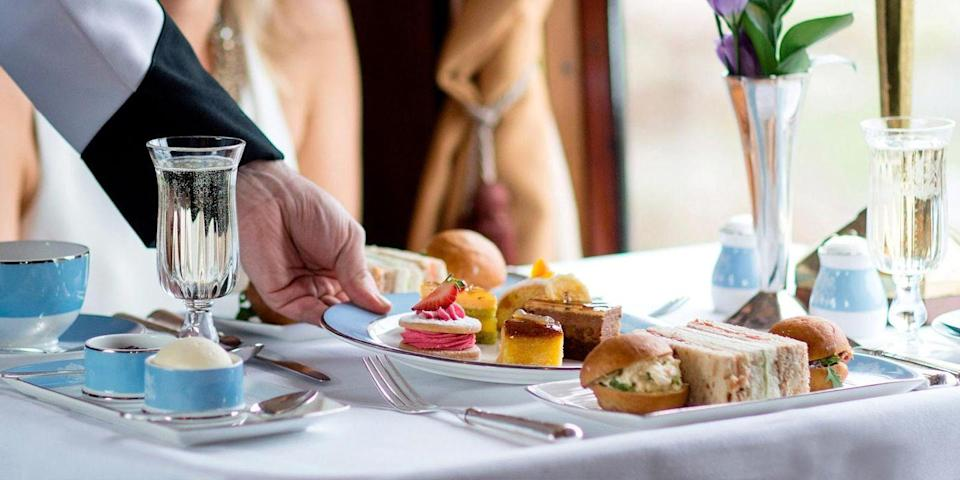 "<p>What could be more special than tucking into scones, finger sandwiches and delicate cakes as you sip tea and champagne while making your way through gorgeous British countryside? On an <a href=""https://www.countrylivingholidays.com/tours/kent-belmond-british-pullman"" rel=""nofollow noopener"" target=""_blank"" data-ylk=""slk:afternoon tea-themed ride"" class=""link rapid-noclick-resp"">afternoon tea-themed ride</a>, you'll step aboard the Pullman at London Victoria and travel to the Weald of Kent in an elegant art deco carriage. </p><p>A bottle of champagne and great British afternoon tea complete the experience on the magnificent ride you can book to treat someone you love for a birthday or anniversary.</p><p><a class=""link rapid-noclick-resp"" href=""https://www.countrylivingholidays.com/tours/kent-belmond-british-pullman"" rel=""nofollow noopener"" target=""_blank"" data-ylk=""slk:TRY AFTERNOON TEA ON THE BRITISH PULLMAN"">TRY AFTERNOON TEA ON THE BRITISH PULLMAN</a></p>"