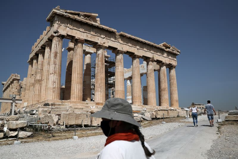 Opening of the Acropolis archaeological site, following the easing of measures against the spread of the coronavirus disease (COVID-19)