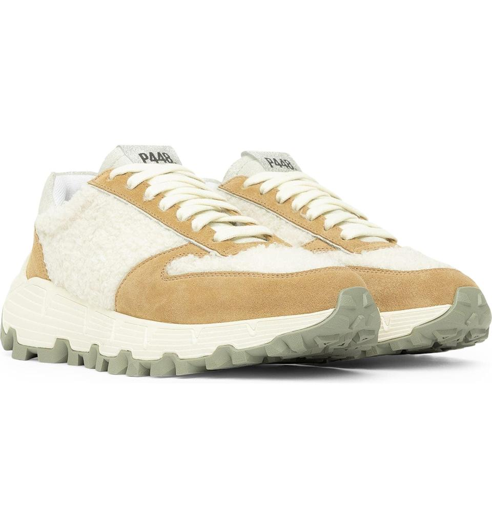 <p>The faux-fur panels of these <span>P448 Jackson Sneakers</span> ($365) make them a winter must have. They look fashion forward, sporty, and cool. </p>