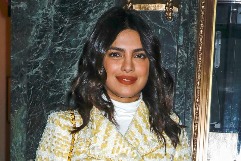 1e9391d0e0b3 Priyanka Chopra Wears a Chanel Outfit Off the Runway With See-Through Boots