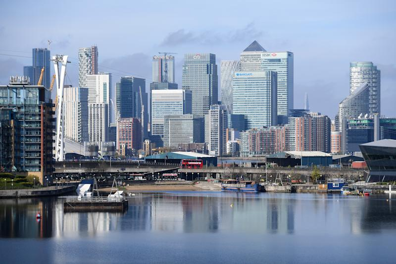 The Canary Wharf skyline. Credit: Kirsty O'Connor/PA Images via Getty Images