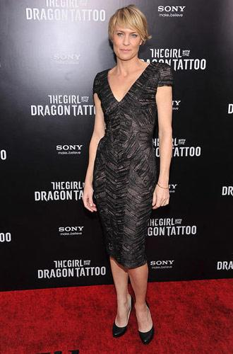 Robin Wright at the New York premiere of The Girl With the Dragon Tattoo on December 14, 2011. Photo by Theo Wargo, WireImage