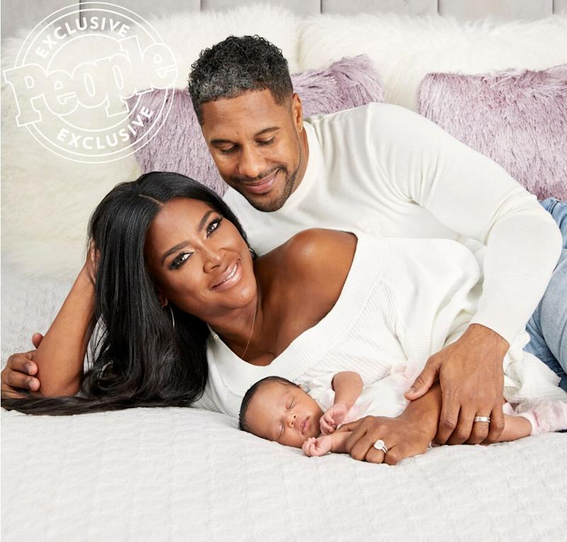 Kenya Moore, Marcy Daly and daughter Brooklyn | Audra Melton