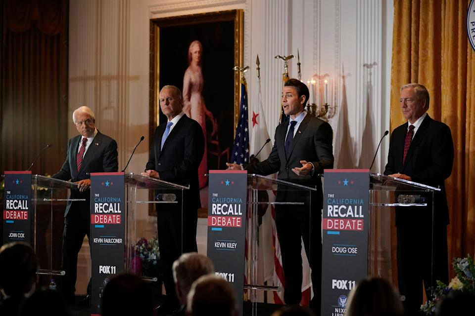 California Recall (Copyright 2021 The Associated Press. All rights reserved.)