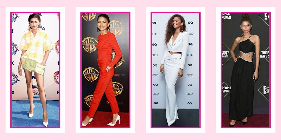 """<p>When it comes to Zendaya Coleman's fashion sense, she really knows how to """"Shake It Up!"""" (shameless Disney Channel pun). She's known for taking <a href=""""https://www.seventeen.com/fashion/celeb-fashion/a20271890/zendaya-met-gala-2018-dress/"""" rel=""""nofollow noopener"""" target=""""_blank"""" data-ylk=""""slk:risks on the red carpet"""" class=""""link rapid-noclick-resp"""">risks on the red carpet</a> and stepping outside of the usual fashion box. Then, when it comes to her off days, she is just like us, seen in sweats and sneakers (REALLY cool sneakers). No matter the look – red carpet, interview or candid street style moment – she always dons a piece of clothing you would <em>love</em> to have in your own closet. </p><p>So whether you need <a href=""""https://www.seventeen.com/prom-dresses/"""" rel=""""nofollow noopener"""" target=""""_blank"""" data-ylk=""""slk:inspiration for prom"""" class=""""link rapid-noclick-resp"""">inspiration for prom</a>, your cousin's wedding, or your next <a href=""""https://www.seventeen.com/fashion/style-advice/tips/g741/date-outfits/"""" rel=""""nofollow noopener"""" target=""""_blank"""" data-ylk=""""slk:date night"""" class=""""link rapid-noclick-resp"""">date night</a>, you can bet that somewhere in the archives, there's a perfect Zendaya look to replicate. We sifted through all her outfits to find the best of the best (yeah, it was <em>really </em>hard to narrow it down). Here are all times Zendaya's style slayed us all – well, more than usual.</p>"""