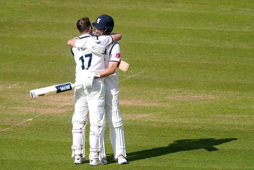 Rob Yates (left) and Will Rhodes both hit centuries (Adam Davy/PA) (PA Wire)