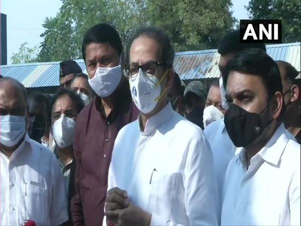 Maharashtra Chief Minister Uddhav Thackeray on Sunday visited Bhandara District General Hospital where a fire broke out on January 9. (Photo/ANI)