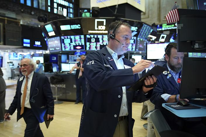 NEW YORK, NY - JUNE 7: Traders work on the floor of the New York Stock Exchange (NYSE) at the closing bell, June 7, 2019 in New York City.