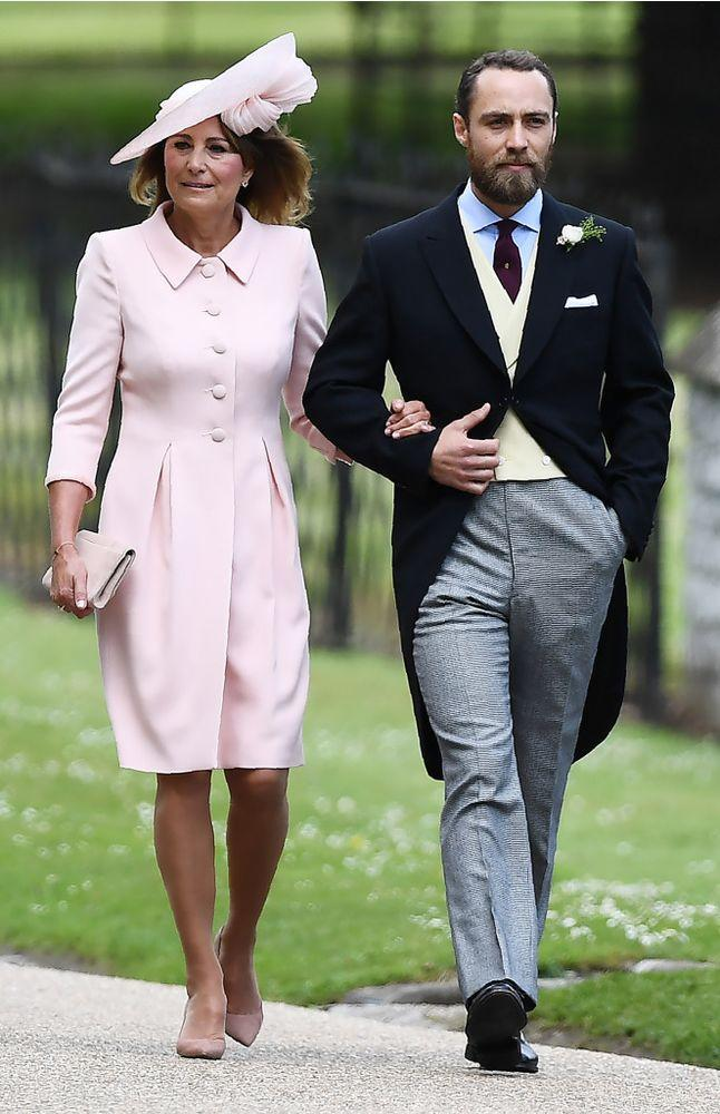 Carole and James Middleton arrive at Pippa Middleton's wedding in May 2017