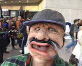 """<p>The actor brought his three children to Comic-Con and got to hide out and enjoy the festivities thanks to the help of this creepy Luigi mask. <i><a href=""""https://www.instagram.com/p/8rHL-yrDfc/"""" rel=""""nofollow noopener"""" target=""""_blank"""" data-ylk=""""slk:(Photo: markruffalo/Instagram)"""" class=""""link rapid-noclick-resp"""">(Photo: markruffalo/Instagram)</a></i></p>"""