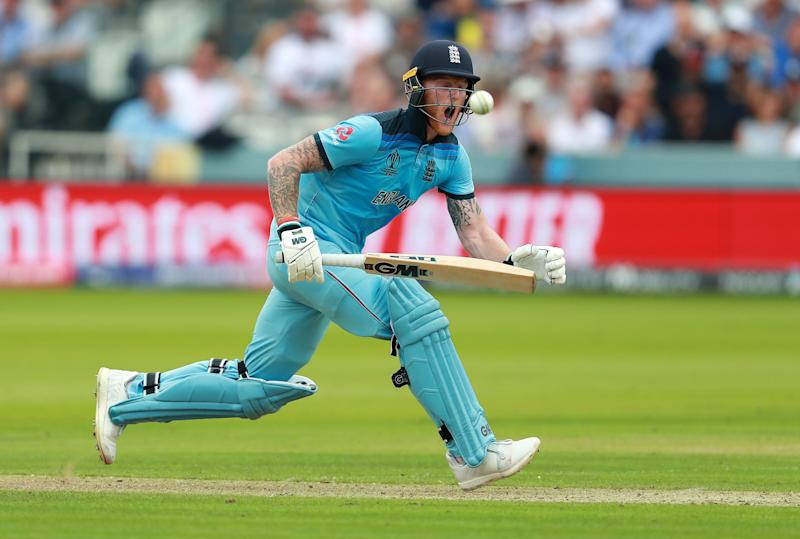 Ben Stokes pulls the ball. (Credit: Getty Images)