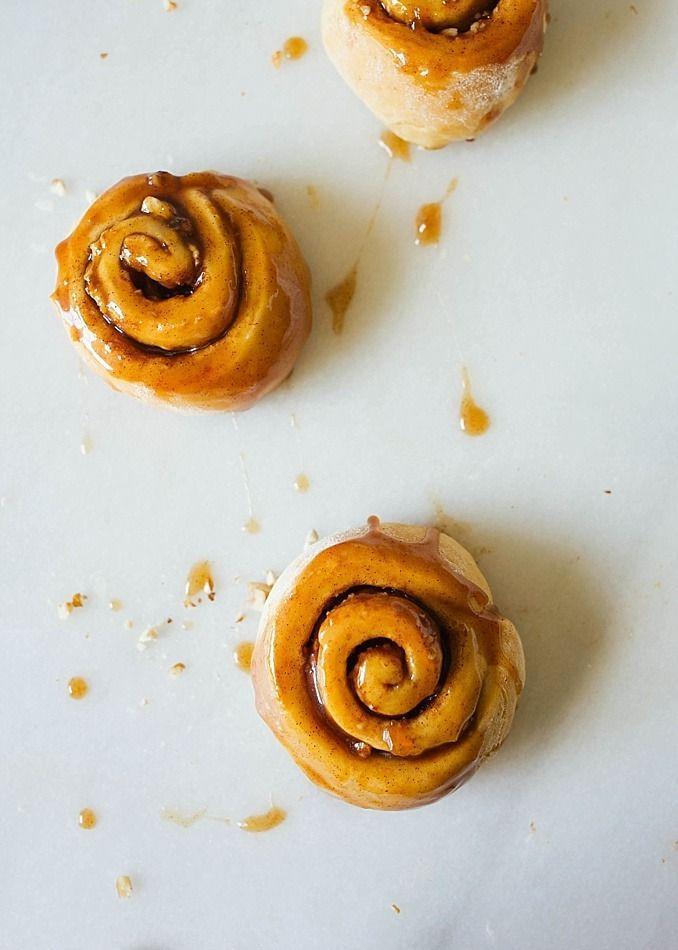 """<p>Combine the flavors of a classic New Orleans dessert (made with bananas and vanilla ice cream, coated in a brown sugar-rum sauce) with soft, gooey cinnamon rolls and you have an absolute knockout.</p><p><a href=""""http://thewoodandspoon.com/bananas-foster-cinnamon-rolls/"""" rel=""""nofollow noopener"""" target=""""_blank"""" data-ylk=""""slk:Get the recipe from Wood and Spoon »"""" class=""""link rapid-noclick-resp""""><em>Get the recipe from Wood and Spoon »</em></a></p>"""