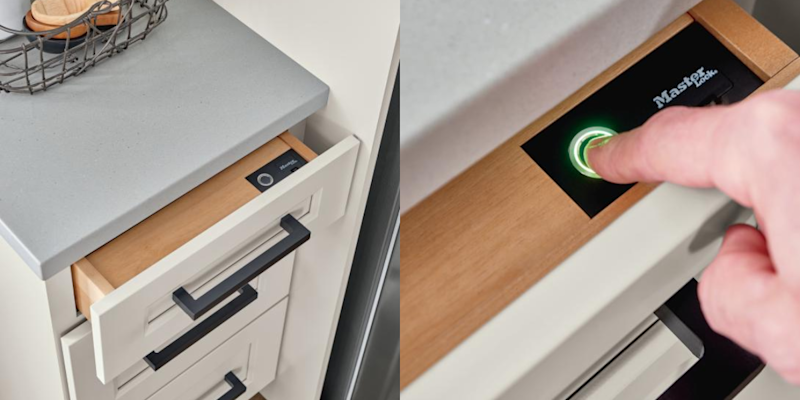 These Cabinets Invisibly Lock And Unlock With Your Fingerprint For