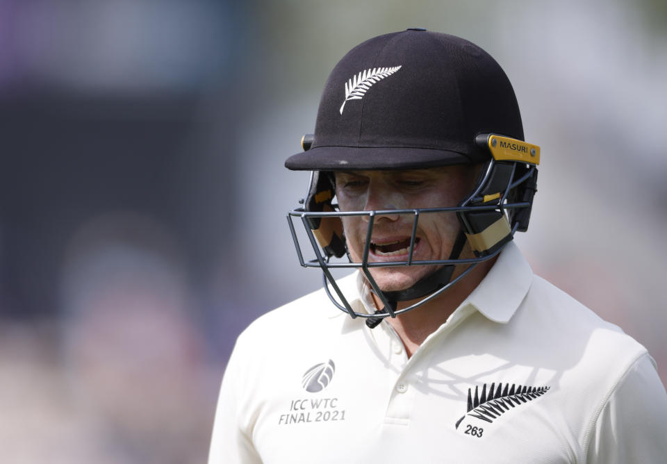Cricket - ICC World Test Championship Final - India v New Zealand - Rose Bowl, Southampton, Britain - June 23, 2021 New Zealand's Tom Latham looks dejected Action Images via Reuters/John Sibley