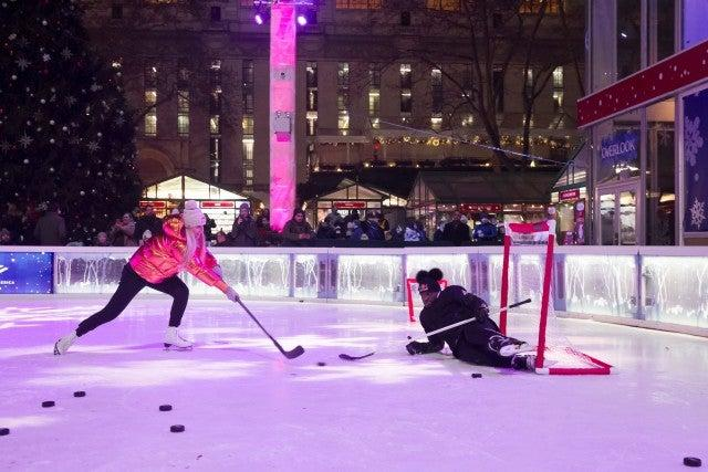 lindsey vonn and fiance in bryant park