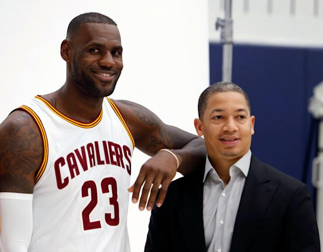 Tyronn Lue has a strong relationship with LeBron James. (AP Photo/Ron Schwane)