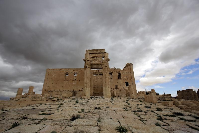 The sanctuary of Baal, pictured in the ancient oasis city of Palmyra, in March 2014 (AFP Photo/Joseph Eid)