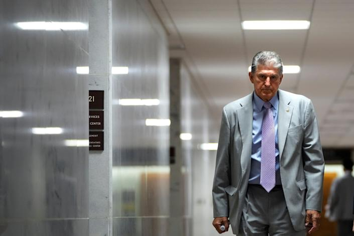 Sen. Joe Manchin announced that he will not support the For the People Act, the voting rights legislation that Democrats are trying to pass through the Senate. (Photo: Drew Angerer via Getty Images)