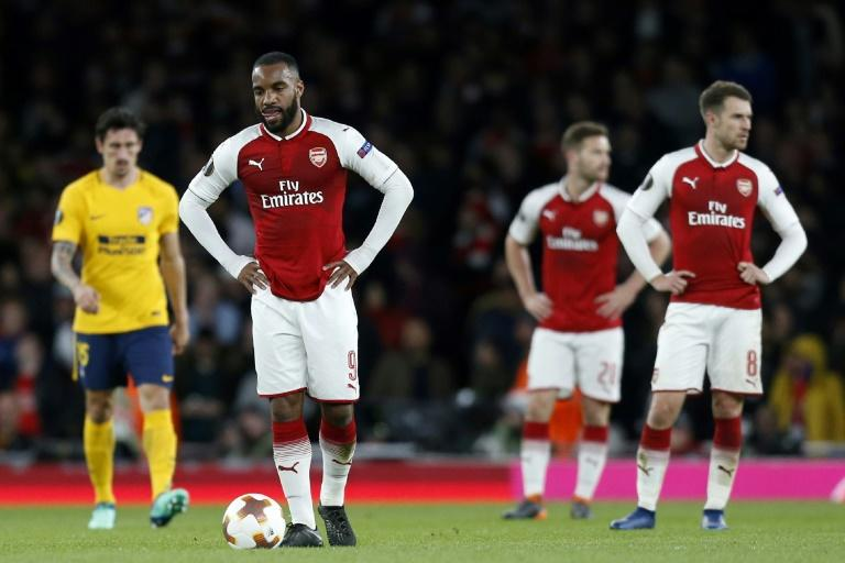 Alexandre Lacazette put Arsenal in front but could only look on in frustration as 10-man Atletico Madrid came back to snatch a 1-1 draw
