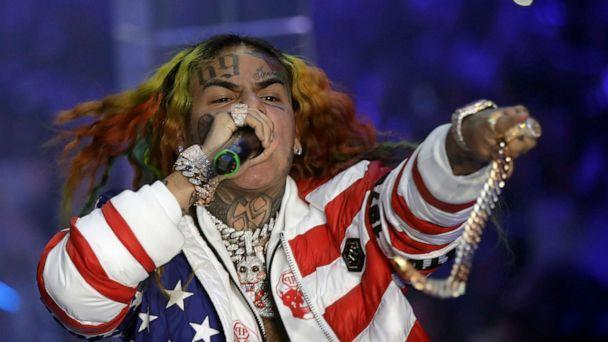 PHOTO: FILE- In this Sept. 21, 2018, file photo rapper Daniel Hernandez, known as Tekashi 6ix9ine, performs during the Philipp Plein women's 2019 Spring-Summer collection during the Fashion Week in Milan, Italy. (Luca Bruno/AP)