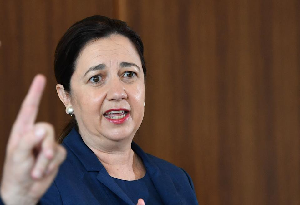 Queensland Premier Annastacia Palaszczuk speaking to media in Brisbane. Source: AAP