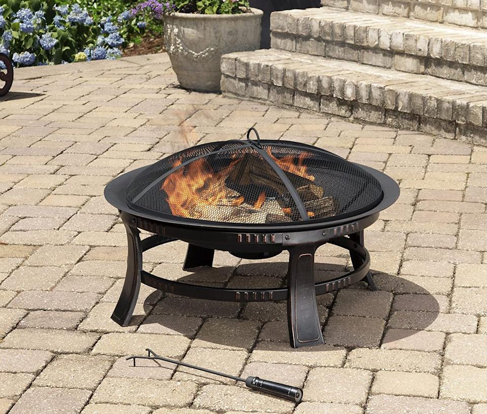 This affordable fire pits rings in under at $100 on Amazon.