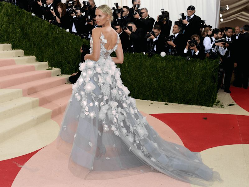 AI participated in designing this supermodel-worn dress at the Met Gala