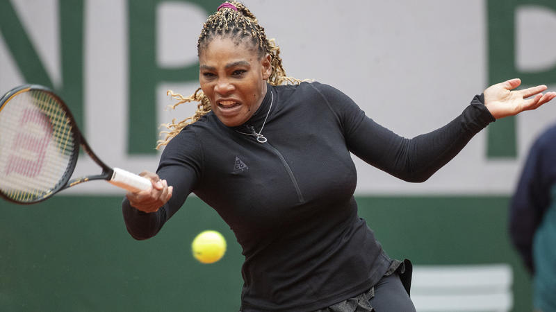 Serena Williams, pictured here in action against Kristie Ahn at the French Open.
