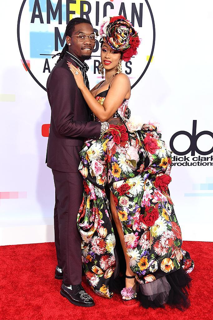 <p>Offset of Migos and Cardi B attend the 2018 American Music Awards at Microsoft Theater on Oct. 9, 2018, in Los Angeles, California. (Photo: Steve Granitz/WireImage) </p>
