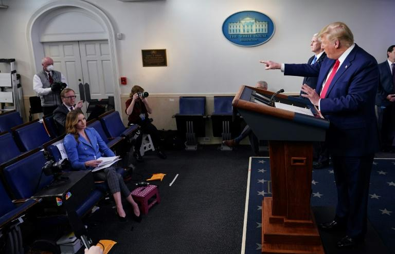 US President Donald Trump lashes out at ABC News chief White House correspondent Jonathan Karl