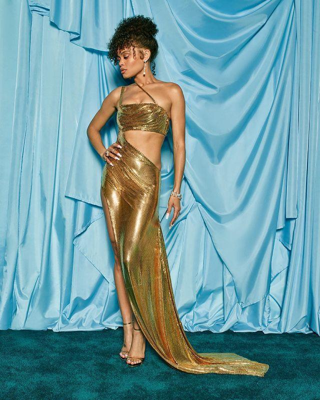 <p>The singer-turned-actress dazzled in a Chanel Haute Couture silk gown as she was celebrated for her Best Actress in a Leading Role nomination, for <em>The United States vs. Billie Holiday</em>.</p>