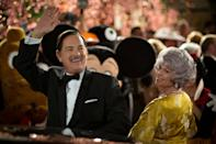 """<p>Walt Disney loves his daughters, so it's no surprise that when he makes them a promise, he's going to keep it. In a fight to obtain the movie rights to <strong>Mary Poppins</strong> and fulfil his word, Walt runs into a roadblock by the book's author who has no interest in turning it into a movie.</p> <p><a href=""""http://www.netflix.com/title/70283202"""" class=""""link rapid-noclick-resp"""" rel=""""nofollow noopener"""" target=""""_blank"""" data-ylk=""""slk:Watch Saving Mr. Banks on Netflix now."""">Watch <strong>Saving Mr. Banks</strong> on Netflix now.</a></p>"""