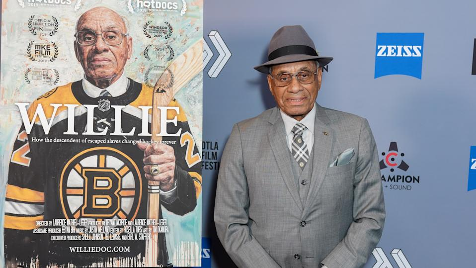 'Willie' documents the life of Willie O'Ree, the NHL's first black player. (Presley Ann/Getty Images)