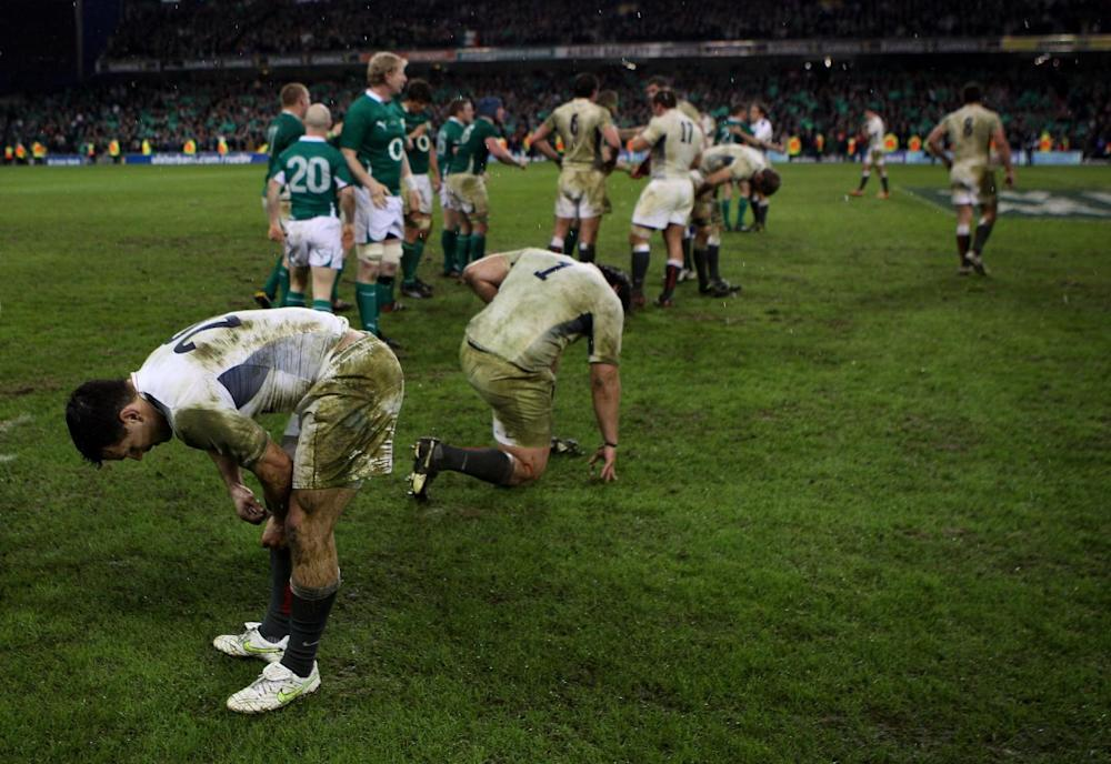 England were left in no mood to celebrate after losing in Dublin six years ago (Getty)