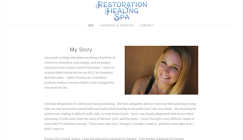 Tempe massage therapist Susanne Woodward no longer lists cuddling therapy on her spa website after a client complained the cuddling services turned sexual. A state board ordered Woodward to separate her massage business from her cuddling business.