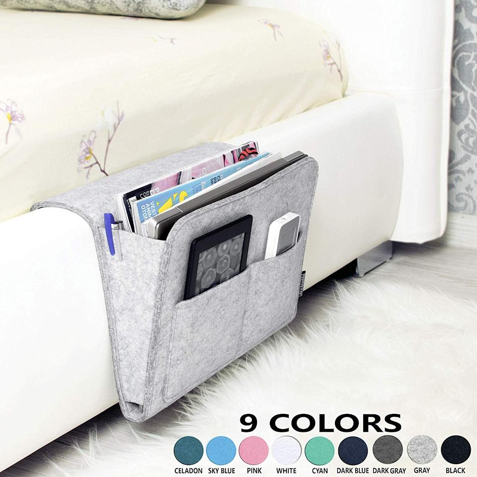 "<p>This <a href=""https://www.popsugar.com/buy/Bedside-Caddy-484928?p_name=Bedside%20Caddy&retailer=amazon.com&pid=484928&price=26&evar1=savvy%3Aus&evar9=46552609&evar98=https%3A%2F%2Fwww.popsugar.com%2Fphoto-gallery%2F46552609%2Fimage%2F46552729%2FBedside-Caddy&list1=shopping%2Camazon%2Cgift%20guide%2C50%20under%20%2450&prop13=api&pdata=1"" rel=""nofollow"" data-shoppable-link=""1"" target=""_blank"" class=""ga-track"" data-ga-category=""Related"" data-ga-label=""https://www.amazon.com/Bedside-HANDMADE-College-Hospital-Organizer/dp/B07HN1KBWQ/ref=sr_1_2?keywords=Stackers+Bedside+Caddies&amp;qid=1566941977&amp;s=gateway&amp;sr=8-2"" data-ga-action=""In-Line Links"">Bedside Caddy</a> ($26) works for the side of a sofa as well.</p>"