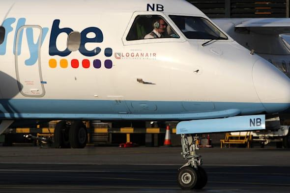 Flybe plane skids off the runway at Inverness